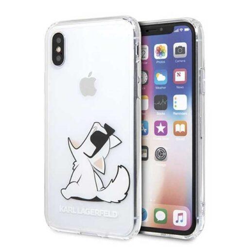 Etui Karl Lagerfeld ovitek iPhone X Xs hardcase transparent Choupette Fun