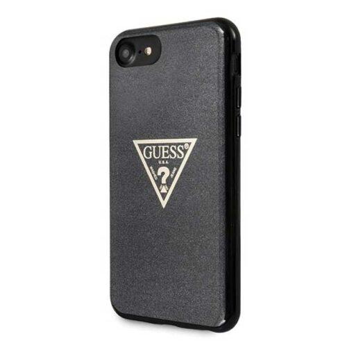 Guess ovitek iPhone SE 2020 iPhone 8 iPhone 7 crna black hard case Glitter Triangle 1