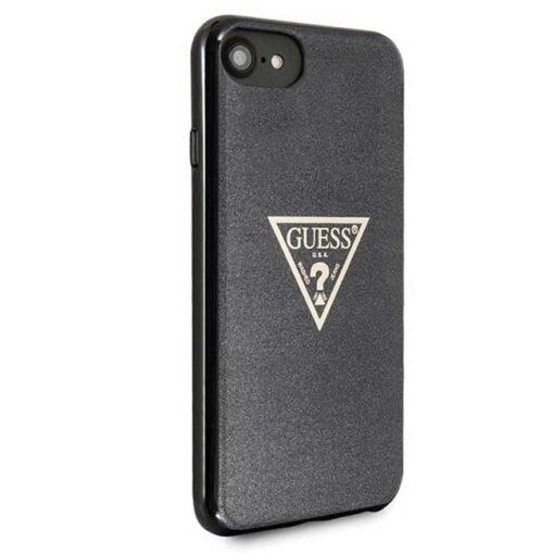 Guess ovitek iPhone SE 2020 iPhone 8 iPhone 7 crna black hard case Glitter Triangle 3