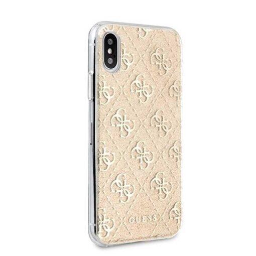 Guess ovitek iPhone X Xs zlata gold hard case 4G Glitter 2