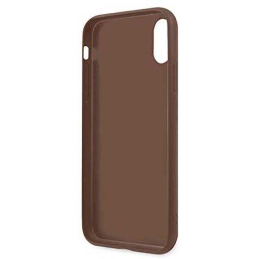 Guess ovitek iPhone x xs rjava brown hard case 4G Stripe Collection 2