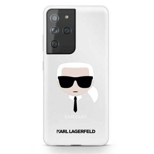 Karl Lagerfeld ovitek S21 Ultra hardcase Transparent Karls Head