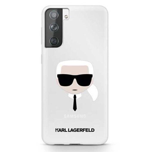 Karl Lagerfeld ovitek S21 hardcase Transparent Karls Head