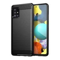 ovitek Carbon Case Flexible Cover TPU Case for Samsung Galaxy A31 crna black