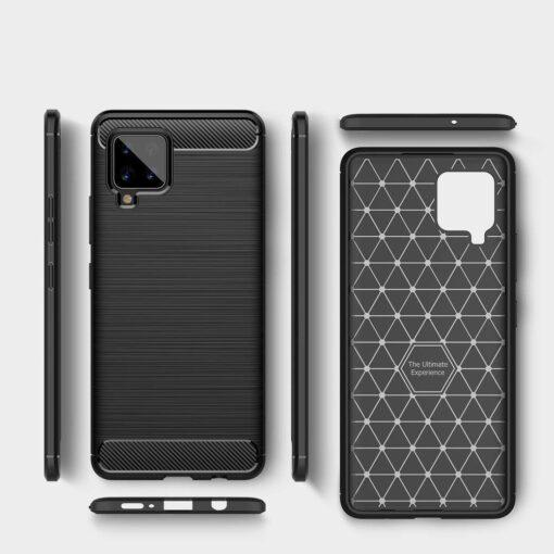 ovitek Carbon Case Flexible Cover TPU Case for Samsung Galaxy A42 crna black 1