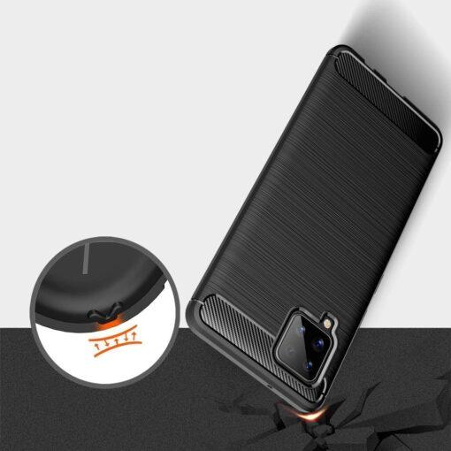 ovitek Carbon Case Flexible Cover TPU Case for Samsung Galaxy A42 crna black 2