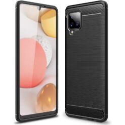 ovitek Carbon Case Flexible Cover TPU Case for Samsung Galaxy A42 crna black