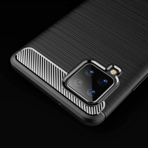 ovitek Carbon Case Flexible Cover TPU Case for Samsung Galaxy A42 crna black 3
