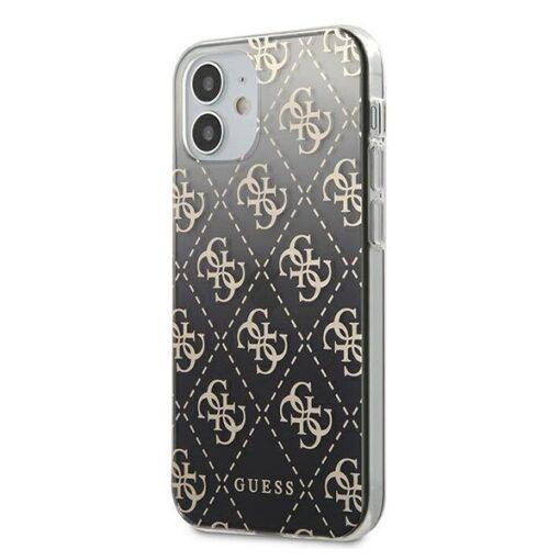 ovitek Guess iPhone 12 mini crna black hardcase 4G Gradient