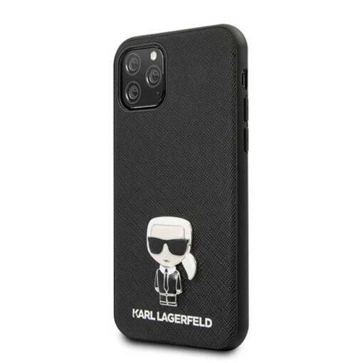 ovitek Karl Lagerfeld iPhone 11 Pro hardcase crna Saffiano Ikonik Karl Lagerfeld 1