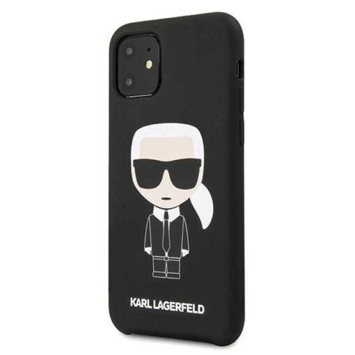 ovitek Karl Lagerfeld iPhone 11 hardcase crna Silicone Iconic 1