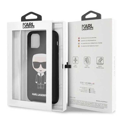 ovitek Karl Lagerfeld iPhone 11 hardcase crna Silicone Iconic 2