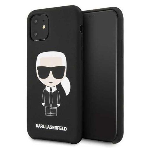 ovitek Karl Lagerfeld iPhone 11 hardcase crna Silicone Iconic