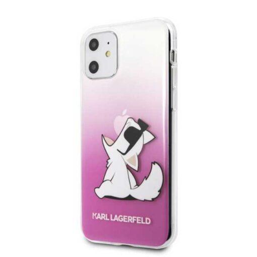ovitek Karl Lagerfeld iPhone 11 hardcase roza Choupette Fun 1