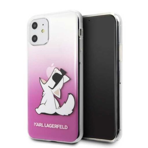 ovitek Karl Lagerfeld iPhone 11 hardcase roza Choupette Fun