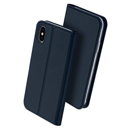 preklopni etui DUX DUCIS Skin Pro Bookcase type case for iPhone XS X modra blue 1