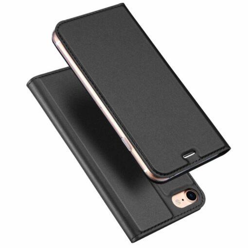 preklopni etui DUX DUCIS Skin Pro Bookcase type case za iPhone SE 2020 iPhone 8 iPhone 7 crna black