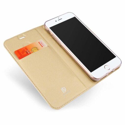 preklopni etui DUX DUCIS Skin Pro Bookcase type case za iPhone SE 2020 iPhone 8 iPhone 7 zlata golden 1