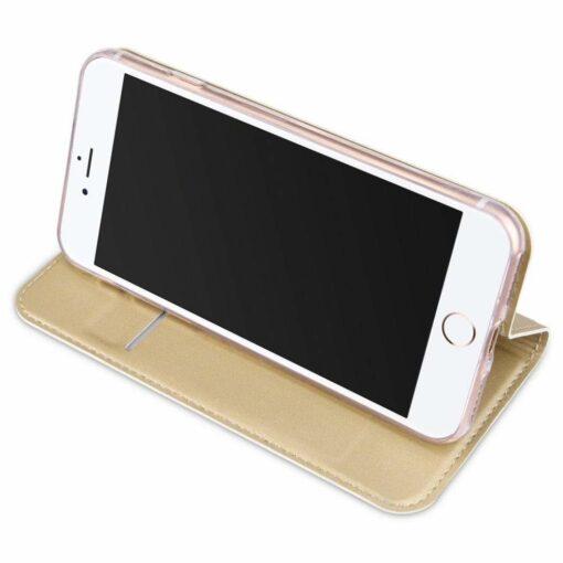 preklopni etui DUX DUCIS Skin Pro Bookcase type case za iPhone SE 2020 iPhone 8 iPhone 7 zlata golden 2