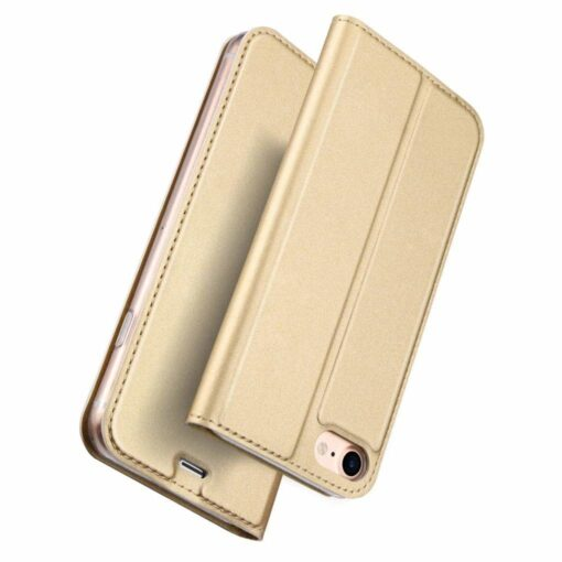 preklopni etui DUX DUCIS Skin Pro Bookcase type case za iPhone SE 2020 iPhone 8 iPhone 7 zlata golden 3