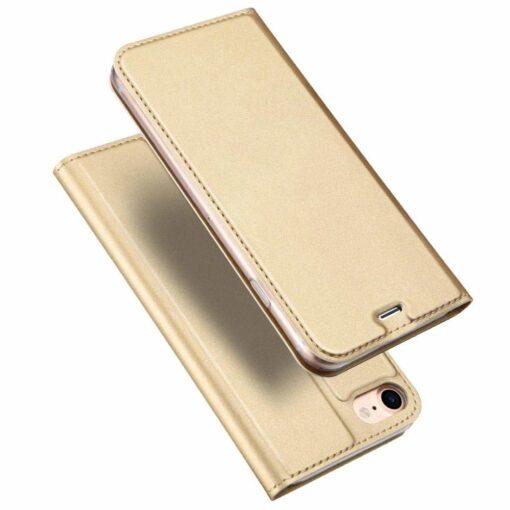 preklopni etui DUX DUCIS Skin Pro Bookcase type case za iPhone SE 2020 iPhone 8 iPhone 7 zlata golden