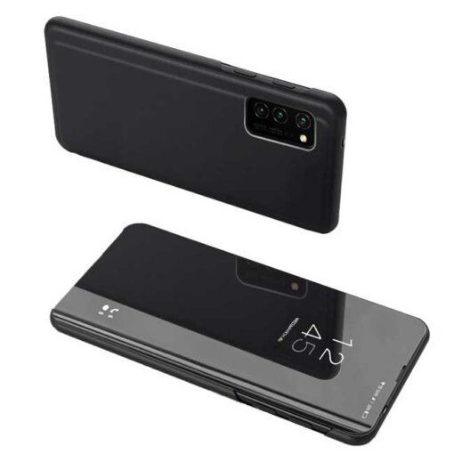 preklopni etui Clear View Case cover for Samsung Galaxy A52 5G A52 4G black crna