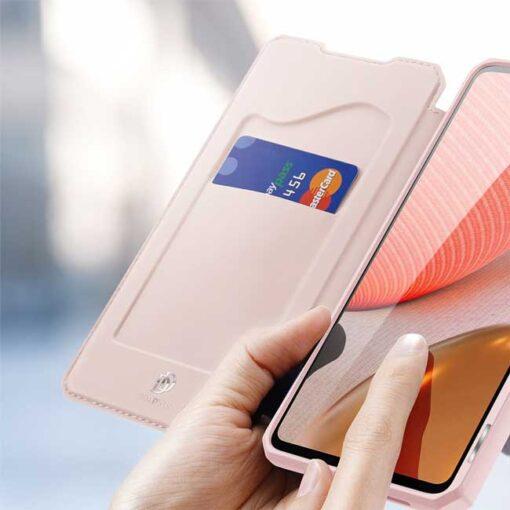preklopni etui DUX DUCIS Skin Pro Bookcase type case for Samsung Galaxy A72 5G black roza 1