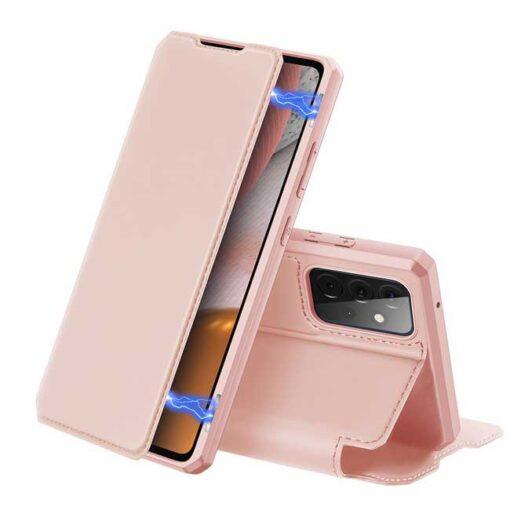 preklopni etui DUX DUCIS Skin Pro Bookcase type case for Samsung Galaxy A72 5G black roza