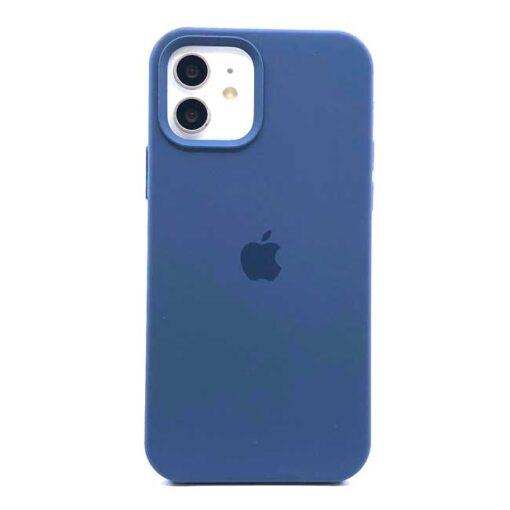 apple silikonski ovitek za 12pro max temno modra 1