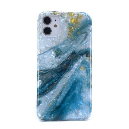 iphone blue shell marble za 12 mini