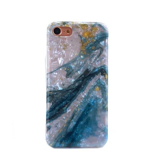 iphone blue shell marble za 7 8 SE2020