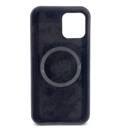 iphone silikonski ovitek za 12 12pro mag safe crna 1 1