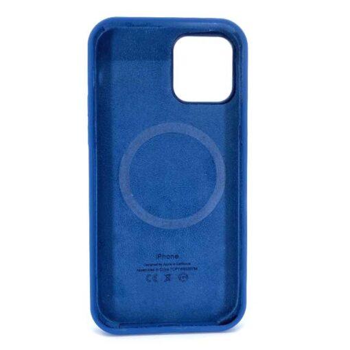 iphone silikonski ovitek za 12 12pro mag safe modra 1 1
