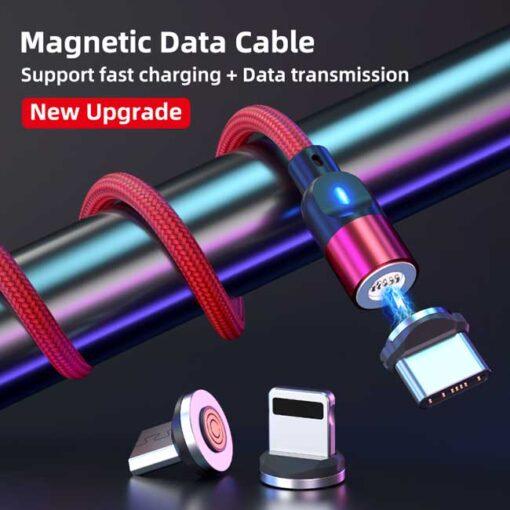polnilni kabel lightning typec micro 3a rdeca 3