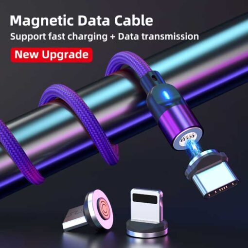 polnilni kabel lightning typec micro 3a vijolicna 9