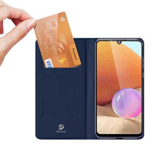 preklopni etui DUX DUCIS Skin Pro Bookcase type case for Samsung Galaxy A32 4G blue modra 1