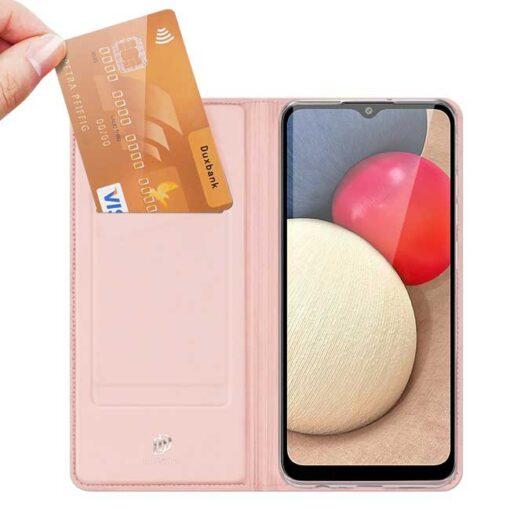 preklopni etui DUX DUCIS Skin Pro Bookcase type case for za Samsung Galaxy A02s pink roza 1