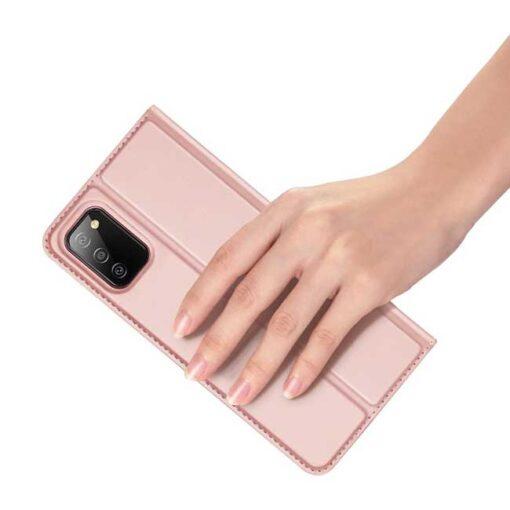 preklopni etui DUX DUCIS Skin Pro Bookcase type case for za Samsung Galaxy A02s pink roza 3