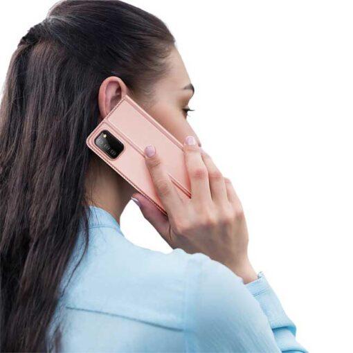 preklopni etui DUX DUCIS Skin Pro Bookcase type case for za Samsung Galaxy A02s pink roza 4