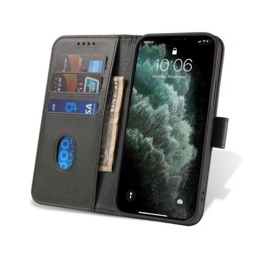 preklopni etui Magnet Case elegant bookcase type case with kickstand for za Samsung Galaxy A32 4G black crna 2