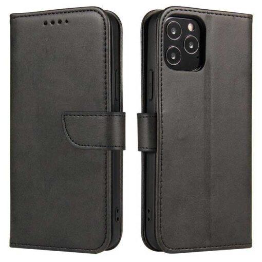 preklopni etui Magnet Case elegant bookcase type case with kickstand for za Samsung Galaxy A32 4G black crna