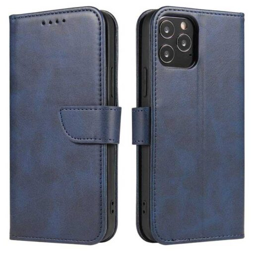 preklopni etui Magnet Case elegant bookcase type case with kickstand for za Samsung Galaxy A32 4G blue modra