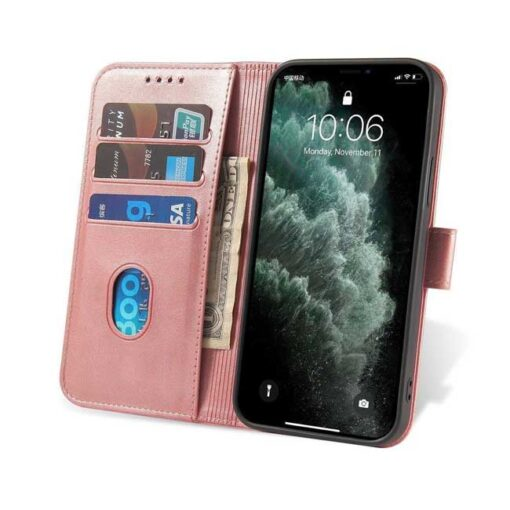 preklopni etui Magnet Case elegant bookcase type case with kickstand for za Samsung Galaxy A32 4G pink roza 2