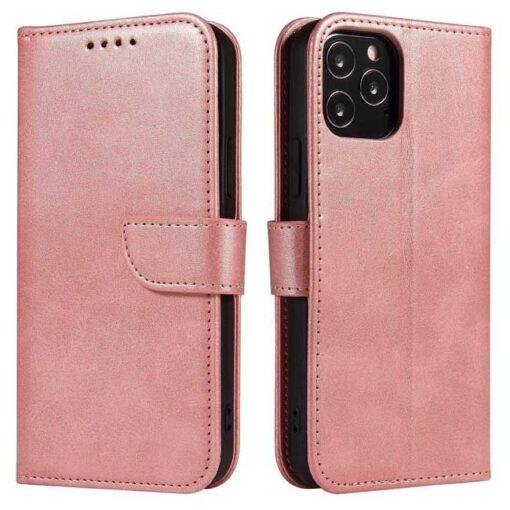 preklopni etui Magnet Case elegant bookcase type case with kickstand for za Samsung Galaxy A32 4G pink roza