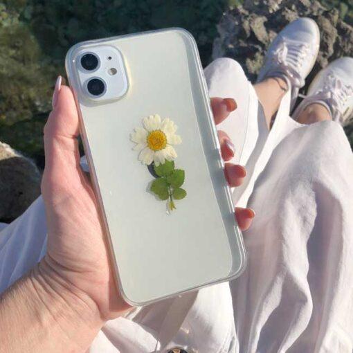 silikonski ovitek posuseno cvetje daisy za iphone huawei samsung 1