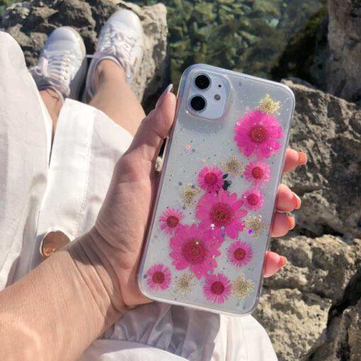 silikonski ovitek posuseno cvetje exotic za iphone huawei samsung 1