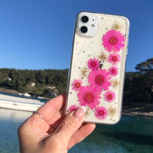 silikonski ovitek posuseno cvetje exotic za iphone huawei samsung
