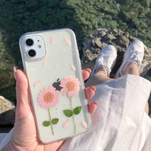 silikonski ovitek posuseno cvetje love za iphone huawei samsung 1