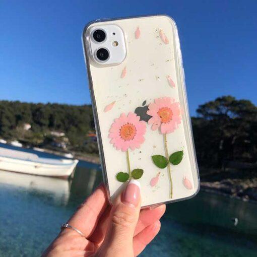 silikonski ovitek posuseno cvetje love za iphone huawei samsung
