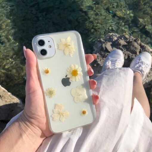 silikonski ovitek posuseno cvetje spring za iphone huawei samsung 1